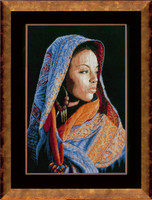African Lady Cross stitch Kit by Lanarte