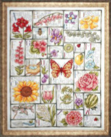 Floral ABC Sampler cross Stitch Kit by Design Works
