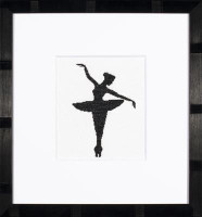 Ballet Silhouette 1 Cross Stitch Kit by Lanarte