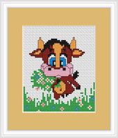 Cow II Mini Cross Stitch Kit by Luca S