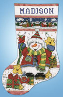 Snowman Fun Stocking Cross Stitch Kit by Design Works