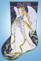 Holly Angel Stotcking Cross Stitch kit by Design Works