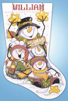 Let it Snow Stocking Cross stitch Kit by Design Works