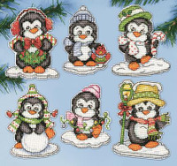 Pengiun PC Ornaments Cross Stitch Kits By Design Works