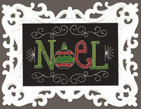Noel Chalk Board Cross Stitch Kit by Design Works