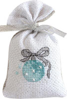 Icy Bauble Bag Cross Stitch Kit by Luca-S