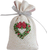 Holly Heart Bag Cross Stitch Kit by Luca-S