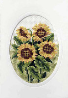 Sunflowers Cross Stitch Card Kit by Orchidea