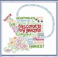 Let's Garden Cross stitch Chart