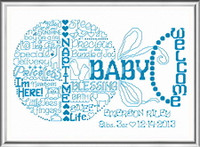 Let's Love Baby Cross Stitch Chart By Ursula Michael