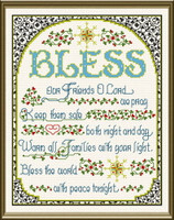 Bless this World with Peace Cross stitch Chart by Ursula Michael