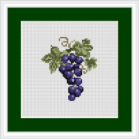 Mini Grapes Cross stitch Kit by Luca S