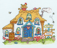 Sew Dinky Cottage Cross stitch Kit by Bothy Threads