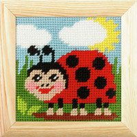My First Embroidery Needlepoint kit - Ladybird By Orchidea