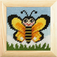 My First Embroidery Needlepoint Kit - Butterfly By Orchidea