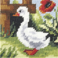 My First Embroidery Needlepoint Kit - Baby Goose
