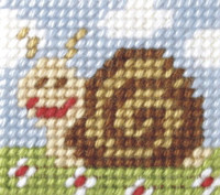 My First Embroidery Mini Needlepoint Kit Sammy Snail By Orchidea