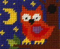 My First Embroidery Needlepoint Kit Owl By Orchidea