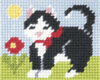 My First Embroidery Needlepoint Kit Kitten By Orchidea