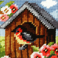 My First Embroidery Needlepoint Kit Bird House By Orchidea