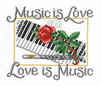 Music is love Cross Stitch Chart by Ursula Michael
