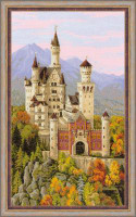 Neuschwanstein Castle Cross Stitch Kit by Riolis