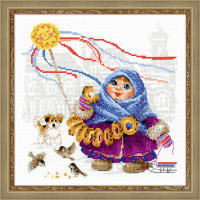 Bread Seller Cross Stitch Kit by Riolis