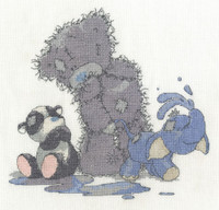 Brand New From DMC! - my blue nose Friends making a splash Cross Stitch Kit by DMC