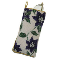 Purple Clematis Spectacles Case Tapestry Kit by Cleopatra