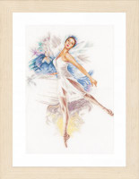 Counted Cross Stitch Kit: Ballerina (Linen) By Lanarte