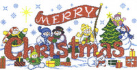 Christmas Friends - cross stitch chart by Ursula Michael