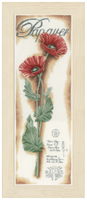 Counted Cross Stitch Kit: Red Poppies (Linen)