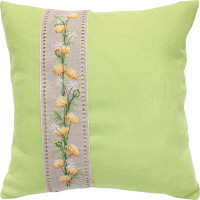 Summer Flower Band Cross Stitch Cushion Kit by Luca-S