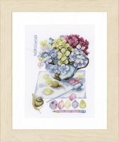 Counted Cross Stitch Kit: Hortensia (Aida,W) By Lanarte