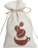 Coffee Bag Cross Stitch Kit by Luca-S