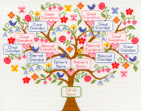 My Family Tree Cross Stitch Kit By Bothy Threads