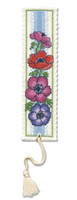Anemones Bookmark Cross Stitch Kit by Textile Heritage