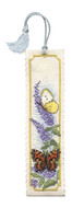 Butterflies & Buddleia Bookmark Cross Stitch Kit by Textile Heritage