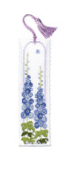 Delphiniums Bookmark Cross Stitch Kit by Textile Heritage