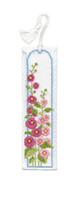 Hollyhocks Bookmark Cross Stitch Kit by Textile Heritage