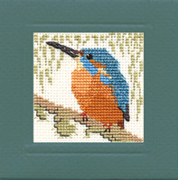 Kingfisher Miniature Card Cross Stitch Kit by Textile Heritage