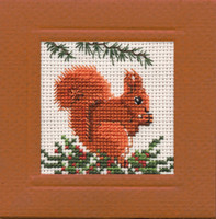 Squirrel Miniature Card Cross Stitch Kit by Textile Heritage