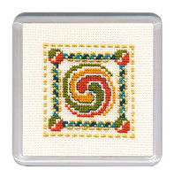 Celtic Spiral Coaster Cross Stitch Kit by Textile Heritage