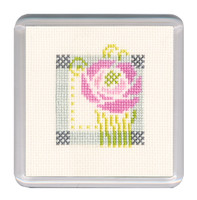 Mackintosh Rose Coaster Cross Stitch Kit by Textile Heritage