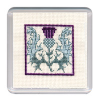 Scottish Thistle Coaster Cross Stitch Kit by Textile Heritage