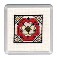 Tudor Rose Coaster Cross Stitch Kit by Textile Heritage