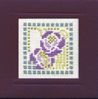 Mackintosh Rose Miniature Card Cross Stitch Kit by Textile Heritage