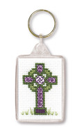 Celtic Cross Keyring Cross Stitch Kit by Textile Heritage