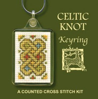 Celtic Knot Keyring Cross Stitch Kit by Textile Heritage