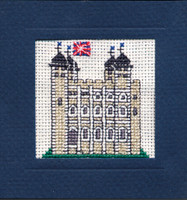 Tower of London Miniature Card Cross Stitch Kit by Textile Heritage